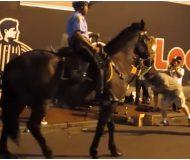 Hästen hör sin favoritlåt spelas på gatan. Det den gör då har setts av tusentals!
