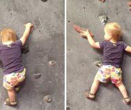 Mamman vägrade att låta dottern prova klätterväggen. Men det som händer sen fick mig att tappa hakan!
