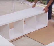 Familjen köper 3 hyllor på IKEA. Detta är en lysande idé för att spara plats i hemmet!