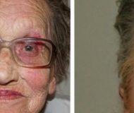 Damen på 80 år blev sminkad av sitt barnbarn – resultatet kommer få dig att trilla av stolen!