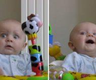 Mamman snyter sig och bäbisens reaktion? Jag smälter fullständigt, det här kan jag se hur många gånger som helst!